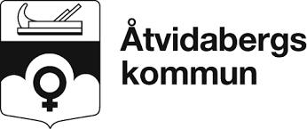 Logga svartvit Åtvidaberg